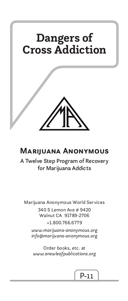 Dangers of Cross Addiction - Marijuana Anonymous World ...